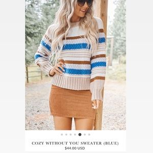 Cozy without you sweater